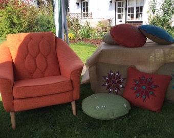 Orange Mid Century Modern Arm Chair