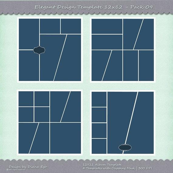 Paquete de plantilla de álbum de foto de 12 x 12, 4 PSD plantillas ...