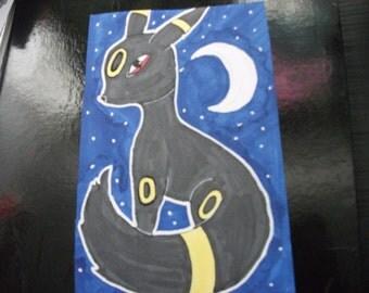 Umbreon Pokemon Eeveelution Pro Marker Drawing On A5 Paper