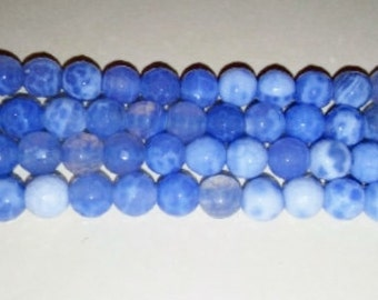 SALE! Blue fire agate 6mm round beads agate beads blue stone beads 6mm stone beads faceted stone beads round stone beads