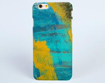Blue Yellow art Water paint iPhone 8 case, iPhone X case, iPhone 7 plus case, iPhone 6s case tough case samsung galaxy s8 case, phone case