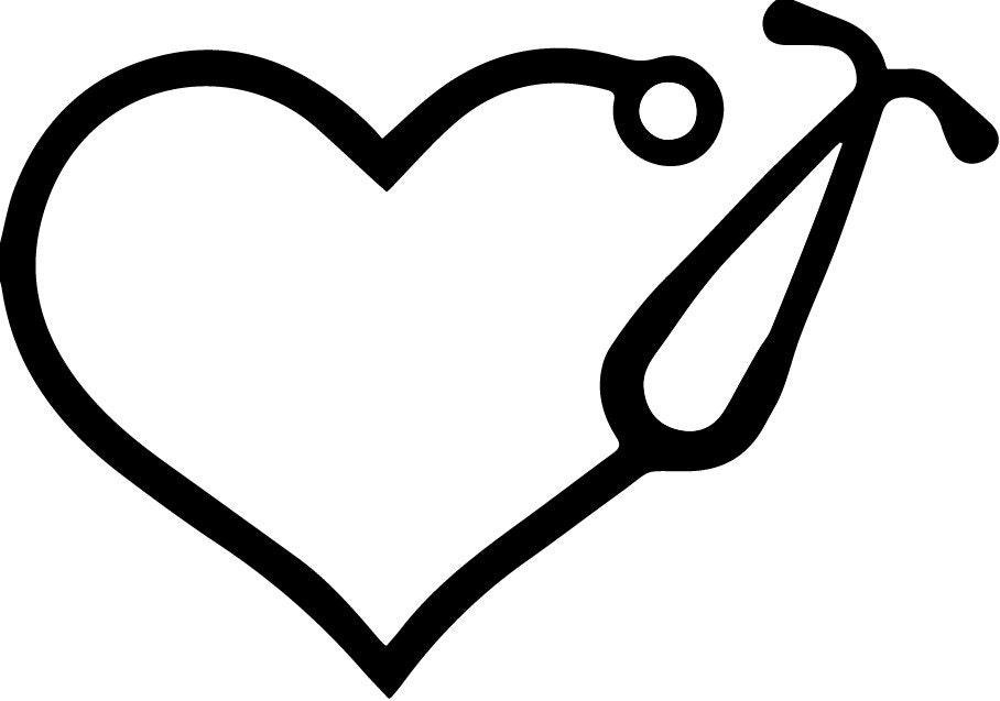 Stethoscope Vinyl SVG File decal for monogram