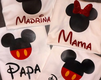 Minnie Mouse Mickey Mouse Adult Shirt Child Shirt Baby Onesie