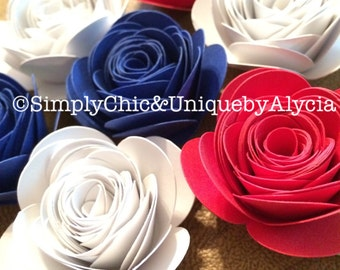 Hand Rolled Paper Flowers - 3D Flowers - Origami Flowers - Large Selection!