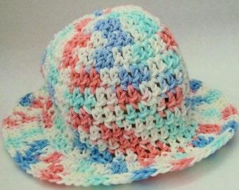 Crochet baby sunhat