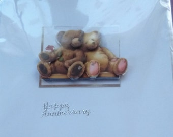 hand made happy anniversary card