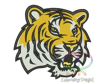 7 Size LSU Tigers Embroidery Designs College Football Logo Embroidery Design Machine Embroidery - Instant Download