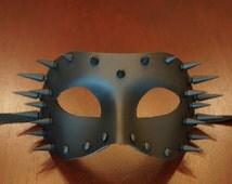 Industrial Matte Black Spike Mask