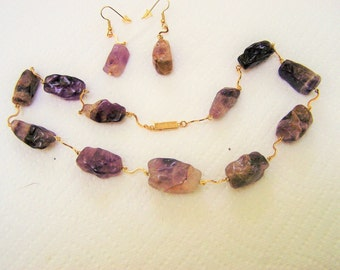 if you like chunky check out this amethyst nugget necklace