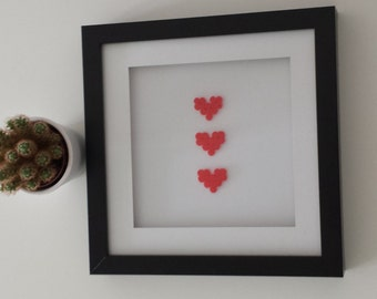 Heart picture frame in the 3D