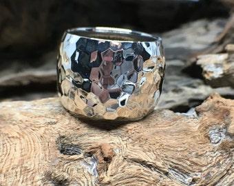 Hammered ring silver925 handmade