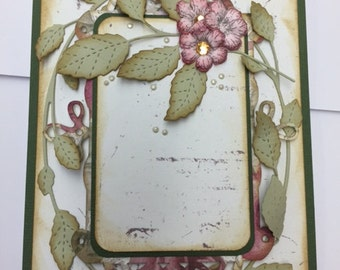 Vintage Card with Roses