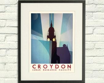 Croydon: Lunar Research Facility - A2 / A3 Poster Print
