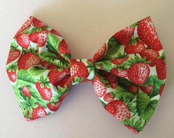 Strawberry Hair Bow