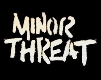 MINOR THREAT punk/crust patch