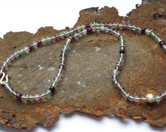 Fluorite necklace with 925 Silver items