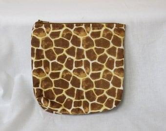 Giraffe Print Pouch