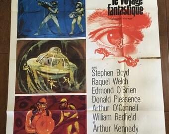 FANTASTIC VOYAGE 1967 Original French Grande Movie Poster (47x63) Starring Raquel Welch