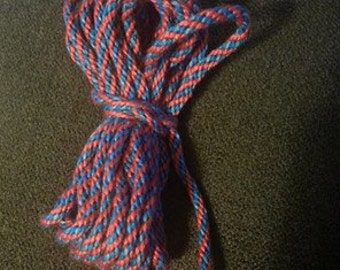 a red/blue cord