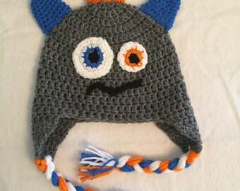 Monster hat, boy hat, winter hat, little boy, cute hat