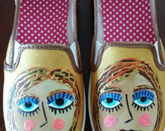 Hand Painted Shoes - Megan