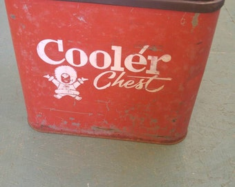 Vintage 1950s Eskimo Ice Cooler/Chest