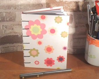 Notebook A6 flowers stained / / gift for you / / journal / / mother's day / / secret Santa gift