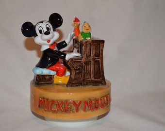 Vintage Mickey Mouse Piano Music Box