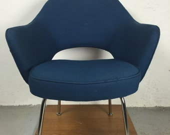 Vintage blue Knoll executive armchair