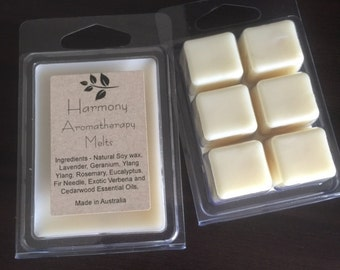 Aromatherapy Essential Oil Soy Melts - Harmony
