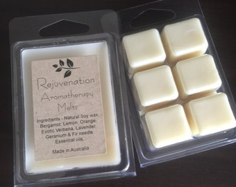 Aromatherapy Essential Oil Soy Melts - Rejuvenation
