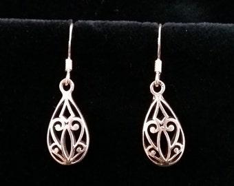 Silver Earrings - Earrings with Oriental Look Corazones, Silver Earrings from Spain, Spanish Earrings