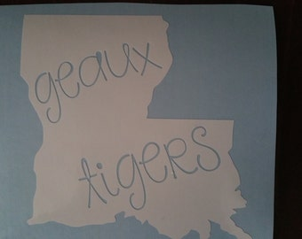 Geaux Tigers Decal/LSU Decal/LSU Tigers/Louisiana Decal/College Football