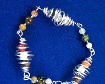 Caged Bead Bracelet