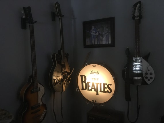 the beatles ludwig bass drum lamp display by craftymofocreations. Black Bedroom Furniture Sets. Home Design Ideas