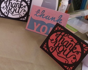 Thank you notes set of 8