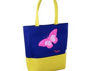 Tote Bag with Butterfly Print