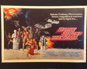"Battle Beyond the Stars Movie Poster 12""x18"" // Science Fiction"