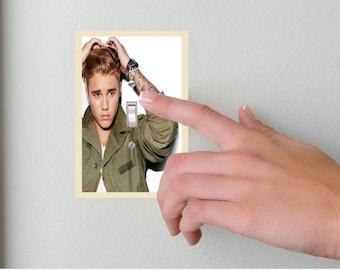 Justin Bieber-Light switch Cover- Justin Bieber- Switch Plate Cover-Wall plate cover