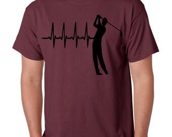 Golf Heart Beat T-Shirts, Golf lovers Tshirts, Golf Tank Tops, Football Tshirts