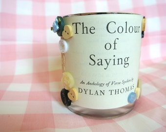 Handmade Dylan Thomas Tea Light Jar