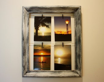Rustic Clothes-line Picture Frame
