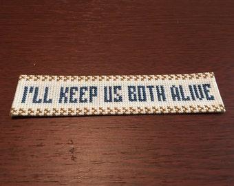 Harry Potter Cross Stitch Bookmark: Ravenclaw Motto