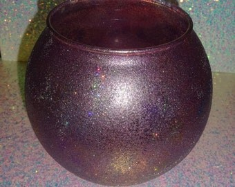 Purple Glitter Bowl
