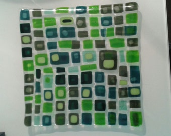 Fused Spectrum Glass Plate