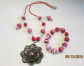 Grenadine - Tropical jewelry set