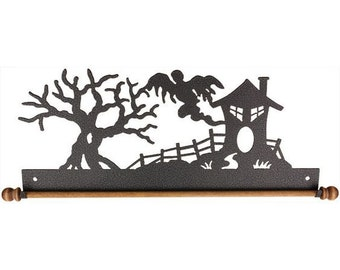 """12"""" Haunted House with dowel Hanger"""