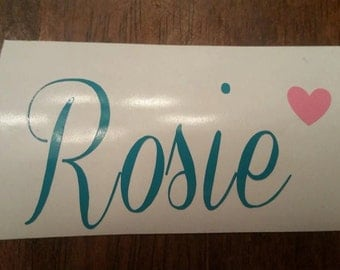Name and Heart Decal