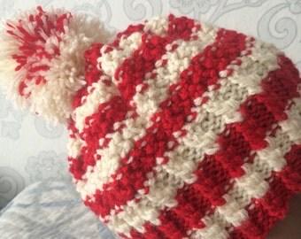 Women's knitted hat, winter .