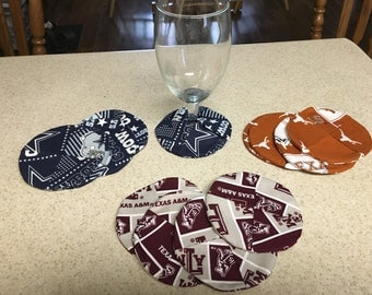 Wine Glass Coasters Set Of 4